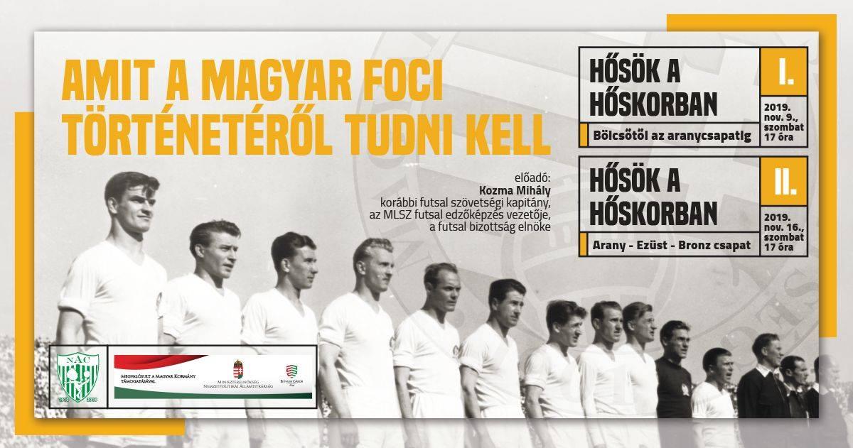 Előadások a magyar foci történetéről