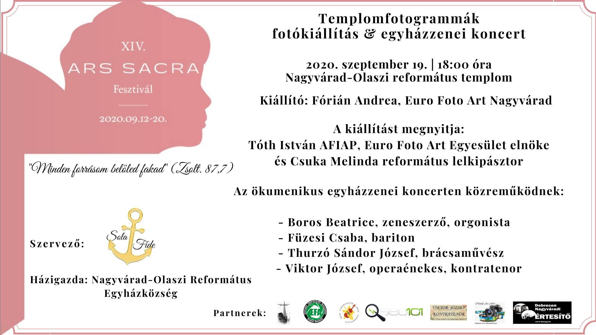 Ars Sacra Nagyvárad - Fotókiállítás és egyházzenei koncert
